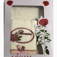 Набор махровых полотенец в подарочной упаковке Турция 100% хлопок