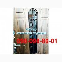 Входные двери с стеклопакетом двери элегант с ковкой