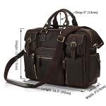 Продается эксклюзивная большая мужская кожаная сумка, матовая лошадиная кожа, черный кофе