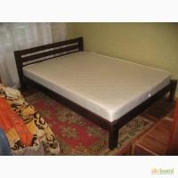 Двуспальная кровать из массива смереки
