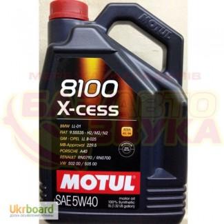Масло Motul 8100 x-cess 5w-40, 5л. Оригинал