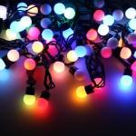Елочные led гирлянды шарики, новогодние светодиодные гирлянды для украшения деревьев