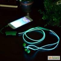 Стильные светящие наушники Glow Earphone