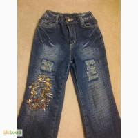 Джинсы утепленные Gloria Jeans на девочку рост 122-128