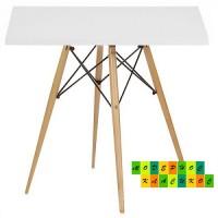Стол обеденный Тауэр Вуд, деревянный, 80*80 см, цвет белый
