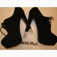 Новые, стильные ботильоны на шнурке, Nando Muzi Италия