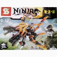 Конструктор Ninja, дракон, фигурки, от 180 дет, 3 вида, в кор-ке