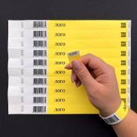 Специальные контрольные браслеты Tyvek под Штрих код от 100 шт