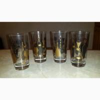 Продам 4 эксклюзивных стакана - Куба времен правления Батисты 1952-59г