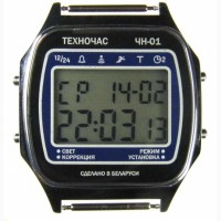 Часы ЭЛЕКТРОНИКА ЧН-01 с АЦНХ 5 мелодий арт.1167