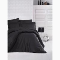 Черное постельное белье сатин страйп (100% хлопок)