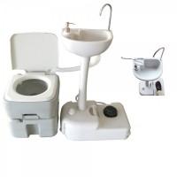 Комплект для кемпинга: биотуалет и переносной умывальник