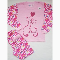 Пижама для девочки, футер, начес