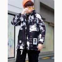 Модная демисезонная куртка - парка для мальчиков - подростков рост 146 - 164 см