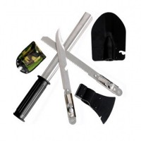 Набор походный 5в1.Лопата, открывашка, пила, топор, нож.Саперная лопата