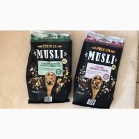Мюсли Crownfield premium Musli с орехами/сухофруктами овсянка мюслі без сахара Германия