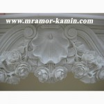 Мраморный камин. Камин из мрамора. Купить облицовку для камина. Порталы мраморные