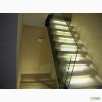 Стеклянные лестницы на заказ Киев