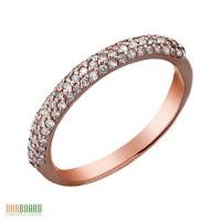 Золотое кольцо с бриллиантами 0,40 карат 16,5 мм. НОВОЕ (Код: 17923)