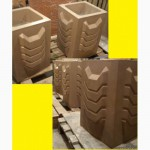 Цветочница бетонная уличная, квадратная, тип 5
