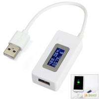 USB тестер KCX-017 измеритель емкости, амперметр, вольтметр