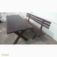 Продам темно-коричневый стол и две лавки 2500 грн
