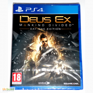 Deus Ex Mankind Divided Day One Edition PS4 диск новый / РУССКИЙ