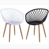 Пластиковый стул М-09 белый чёрный
