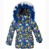 Детские зимние тёплые комбинезоны-тройка для девочек 1-5 лет Буквы