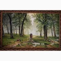 Картина маслом Дождь в дубовом лесу Александр Иванов