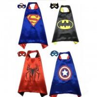 Детский плащ с маской Бетмен, Спайдермен, Супермен