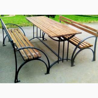 Скамейка садовая, лавочка парковая, кованная скамья для сада, дачи
