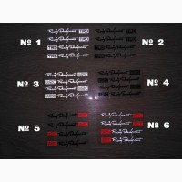 Наклейки на ручки WRC, TDR, Черная, Белая светоотражающая, на диски, дворники, в салоне