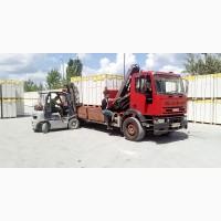 Газобетон газоблок UDK ХСМ продажа доставка краном-манипулятором