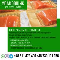 Упаковщик работа в Польше