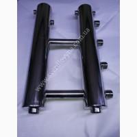 Коллектор отопления из нержавеющей стали на 2 выхода, могут быть любой конфигурации