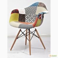 Кресло Пэрис вуд T (Paris wood T) в цветной ткани как на фото, ноги натуральное дерево