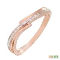 Золотое кольцо с бриллиантами 0,13 карат 17 мм. НОВОЕ