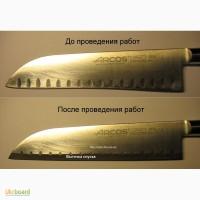 Заточка кухонных ножей с выездом к заказчику в кафе, ресторанах