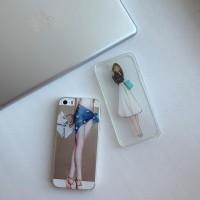 Силиконовый чехол Lady на iPhone 5/5S