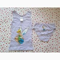 Комплект disney fairies с принтом сказочной феи динь- динь, 92/98, на 3 годика