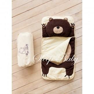 Спальный плед-конверт Мишка для детей