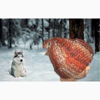 Зимняя шапочка связана спицами