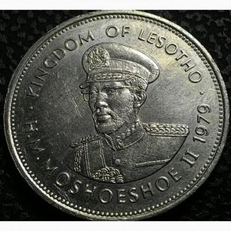 Лесото, 1 лоти 1979 год Никель, дм. 28, 5 мм, вес 11, 3 г СОСТОЯНИЕ!!! не частая