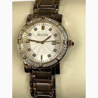 БРИЛЛИАНТЫ ! Часы женские BULOVA c 24 бриллиантами