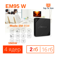 Купить Tv box EM 95W mini 2/16 Android 7 Смарт тв приставка для телевизора S905W 4К