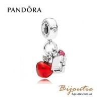 Pandora шарм-подвеска DISNEY Яблоко и сердце белоснежки 797486CZRM
