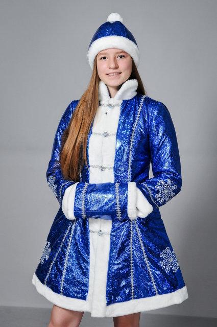 Фото 2. Новогодний шикарный карнавальный костюм Снегурочки, размеры 42-48