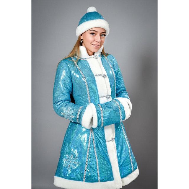 Фото 3. Новогодний шикарный карнавальный костюм Снегурочки, размеры 42-48