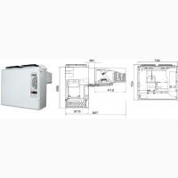 Моноблок среднетемпературный MM218S Полаир (холодильный)